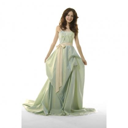 湖水绿长裙