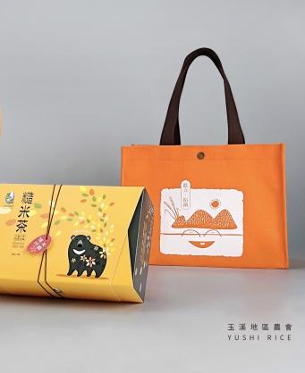 糙米茶禮盒,共兩盒(附贈帆布小提袋*1)