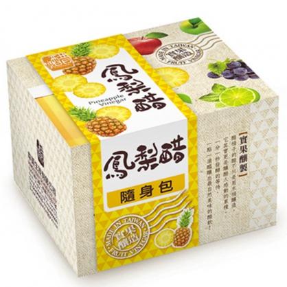 醋桶子果醋隨身包-鳳梨醋10入/盒