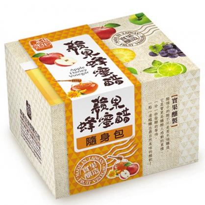 醋桶子-果醋隨身包-蘋果蜂蜜醋10入/盒
