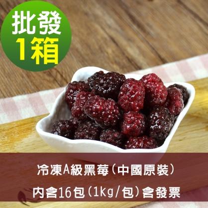 【幸美莓果】批發 A級冷凍黑莓16公斤