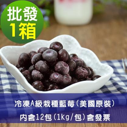 【幸美莓果】批發 A級冷凍栽種藍莓12公斤