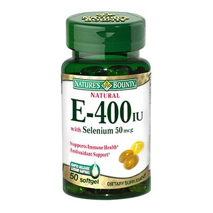 自然之寶維生素E+硒軟膠囊食品50顆-西歐科技