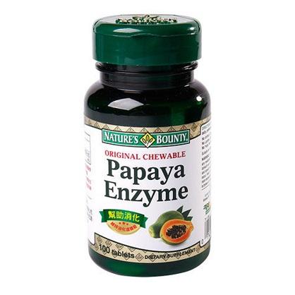 自然之寶咀嚼木瓜酵素錠狀食品100顆-西歐科技