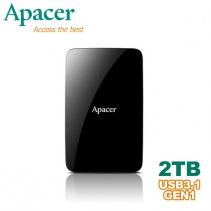 【Apacer】2TB USB3.1 2.5吋行動硬碟(AC233)