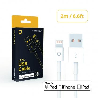 【JC科技小舖】犀牛盾授權經銷商-MFi原廠認證iPhone Lightning to USB充電線(2M)