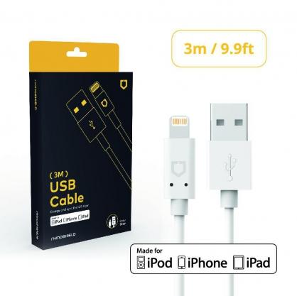 【JC科技小舖】犀牛盾授權經銷商-MFi原廠認證iPhone Lightning to USB充電線(3M)