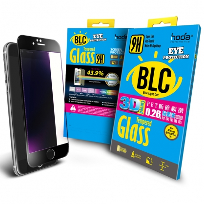 【JC科技小舖】HODA好貼授權【酒空專用抗藍光版】iPhone6/6s Plus PET防碎軟邊3D滿版玻璃貼