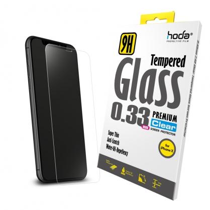 【JC科技小舖】HODA好貼授權販售 hoda【iPhone X】2.5D高透光9H鋼化玻璃保護貼(半版)