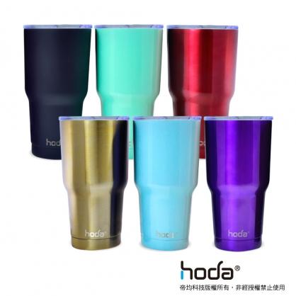 【JC科技小舖】【hoda酷冰杯】1送3超值組 304不鏽鋼 大容量887ml 買就送 時尚提把/不鏽鋼吸管/專用毛刷