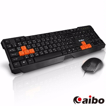 【JC科技小舖】aibo鈞嵐授權販售炎爵 LY-ENKM07 有線鍵盤滑鼠組