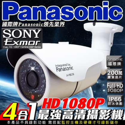 Panasonic高清HD1080P 40顆高功率攝影機鏡頭 高硬度鋁合金設計 室外防水錄影 百萬鏡頭高清畫素 監視錄影攝影攝像頭