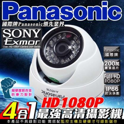 Panasonic高清HD1080P 28顆高功率攝影機鏡頭 高硬度鋁合金設計 室內半球 百萬鏡頭高清畫素 監視錄影攝影攝像頭