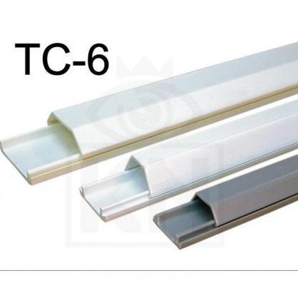 TC-6 6號壓條 電話機線 電信配線 防災防盜 監視系統 配線槽 壓線條 壓條 監視器材