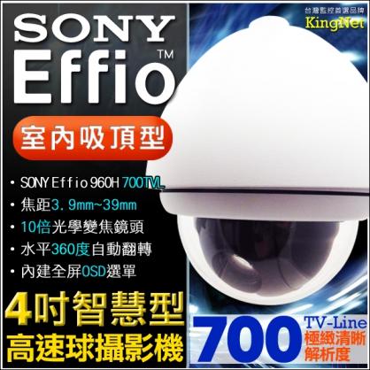 4吋 IP 網路 快速球 攝影機 10倍光學變焦 360度 700條 低照度 90度 上下翻轉 監視 高速球 遠端 SONY晶片