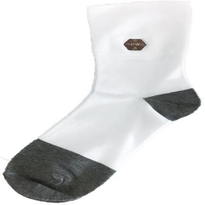 銀纖維寬口白襪