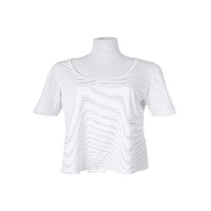 銀纖維圓領衫
