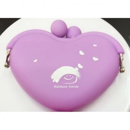 矽膠小錢包(紫)