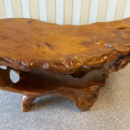 原木泡茶桌-黃肉楠木 原木桌 原木品茗桌 木製泡茶桌 木製小茶几 小餐桌