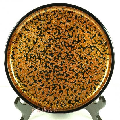 金蟲圓盤-木胎漆器