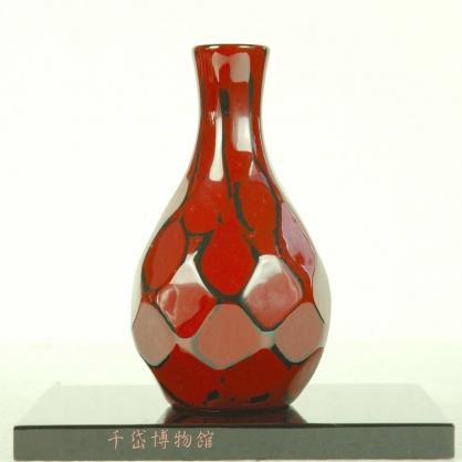 唐草花器-木胎漆器