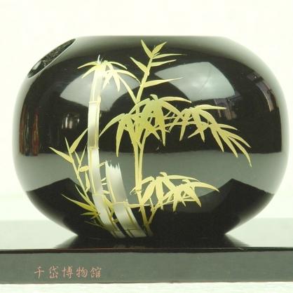 竹花器-木胎漆器