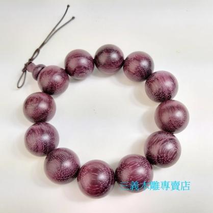 紫心木念珠 原木手珠 木製佛珠(18mm)