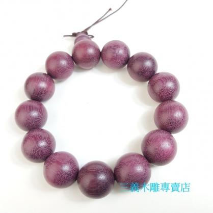 紫心木念珠 原木手珠 木製佛珠(15mm)