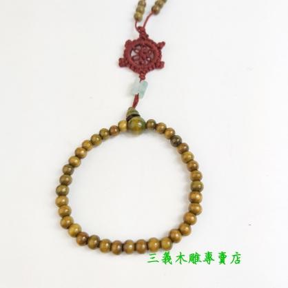 綠檀木念珠 原木手珠 木製佛珠