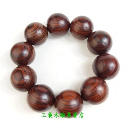 黃花梨念珠 原木手珠 木製佛珠(22mm)