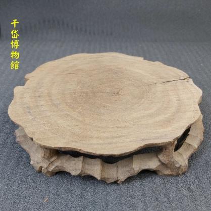 台灣楠木小花台(裂) 擺設花台~可放雅石、水晶、各式小盆栽及藝術品