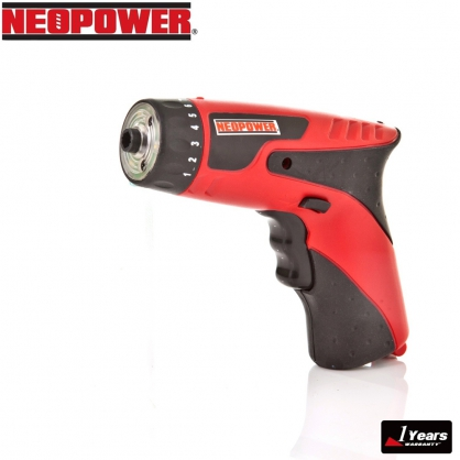 NEOPOWER 4.8V 充電式電鑽起子機 贈45配件組   加贈34件手工具配件組(TV熱銷商品)