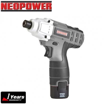 【NEOPOWER】12V 鋰電 衝擊起子機 雙顆電池 加贈專用LED手電筒(ML-CD51)