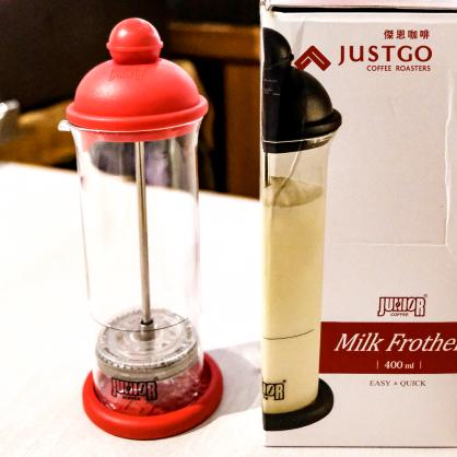 JUNIOR 手動奶泡器 (顏色:紅/黑)