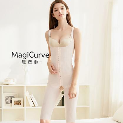 膝上長【MagiCurve 魔塑師】GE-014H 高丹尼雙層連身束衣(抽脂術後/產後必穿)