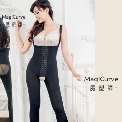 【魔塑師】P-016 高丹尼~ 全雙層塑腹美腿高腰長束褲 (腹部抽脂/產後束腹/大腿抽脂) MagiCurve