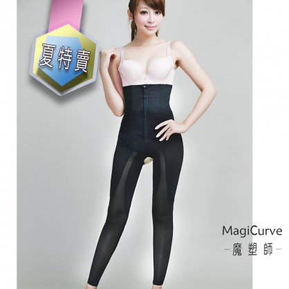【夏特價 魔塑師】P-028 高丹尼重壓夏季高腰長束褲(局部雙層/抽脂/產後 )
