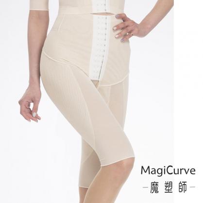 【夏特賣 魔塑師】P-002 中腰膝上長 #可修改 局部雙層-夏季重壓提臀-抽脂術後/產後塑身 MagiCurve