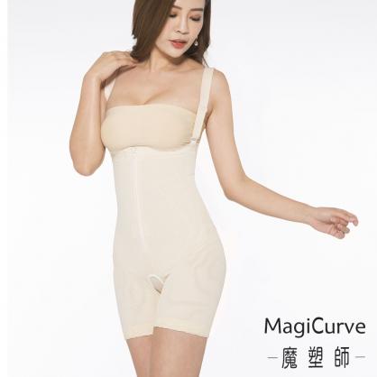 短褲【MagiCurve 魔塑師】P-012 高丹尼雙層高腰短褲(腹部抽脂/產後束腹)