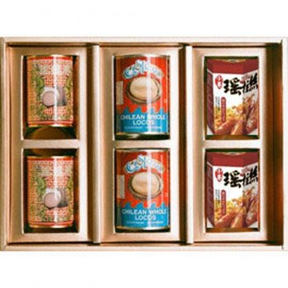 日本蠑螺、智利鮑魚、勁辣小卷瑤柱絲 禮盒