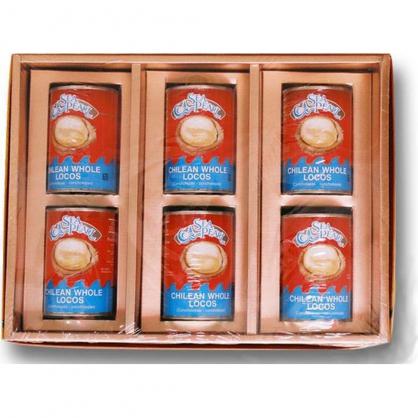 智利鮑魚禮盒(六罐入)